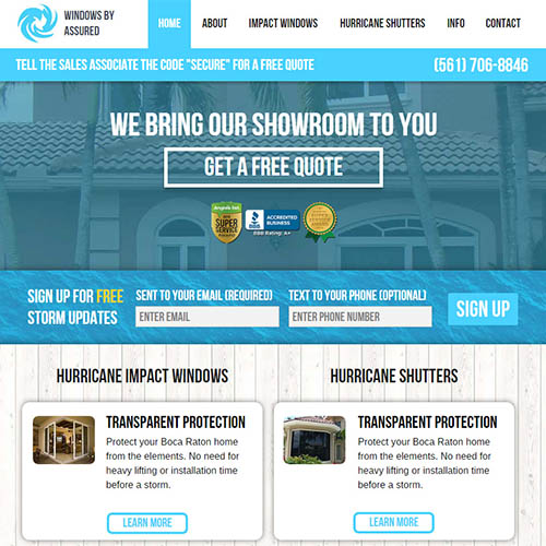 assured storm protection web design
