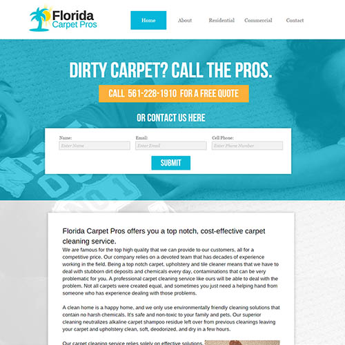 florida carpet web design