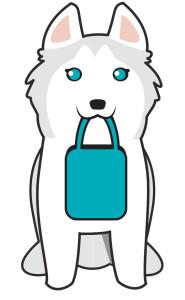 husky logo design go gal