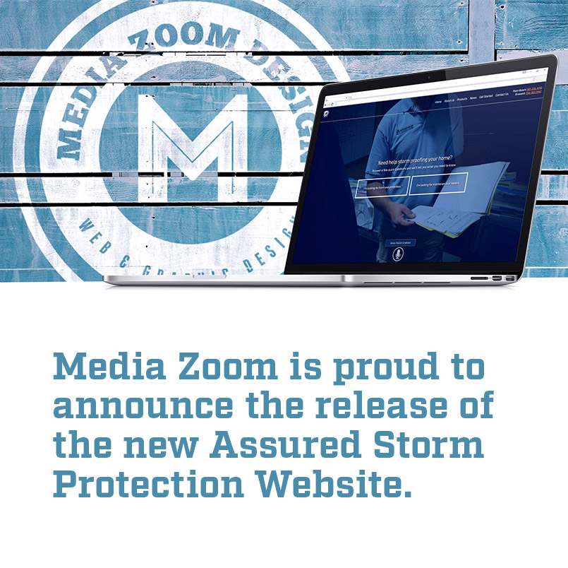 assured storm web design