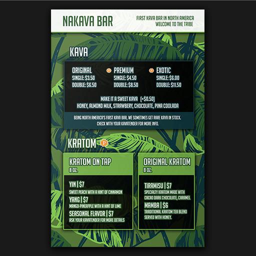 nakava menu design boca raton